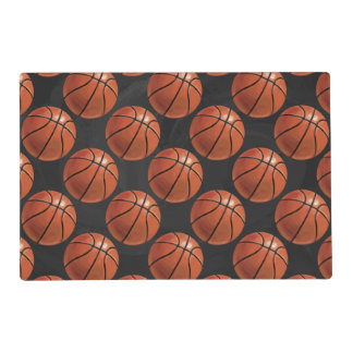 Painted Basketball Pattern Placemat