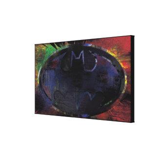 Painted Bat Symbol Canvas Print