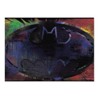 Painted Bat Symbol Card
