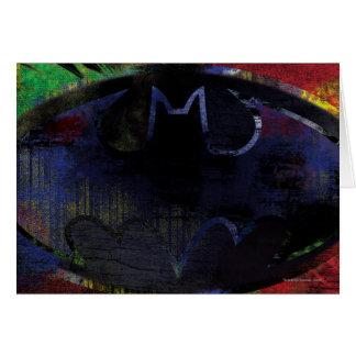 Painted Bat Symbol Greeting Card