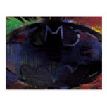 Painted Bat Symbol Postcard