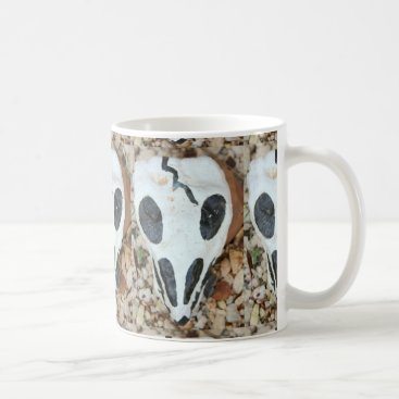 Halloween Themed painted black/white skull coffee mug