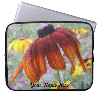 Painted Blanket Flower Design Laptop Sleeve