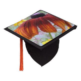 Painted Blanket Flower Graduation Cap Topper