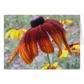 Painted Blanket Flower Greeting Card