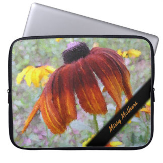 Painted Blanket Flower Personal Laptop Sleeve