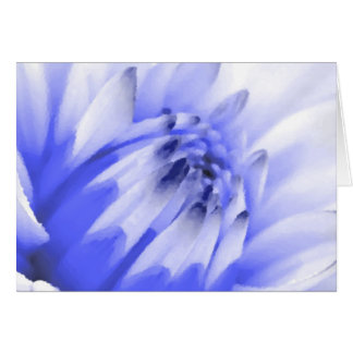 Painted Blue and White Flower Card