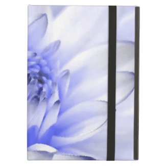 Painted Blue and White Flower Case For iPad Air
