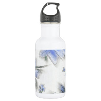 Painted Blue Flowers Water Bottle