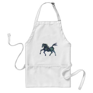 Painted Blue Horse Adult Apron