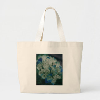 Painted Blue Hydrangea Large Tote Bag
