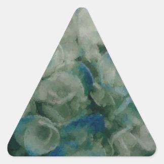Painted Blue Hydrangea Triangle Sticker