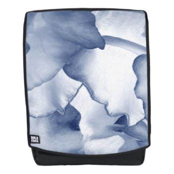 Painted Blue Petals Backpack