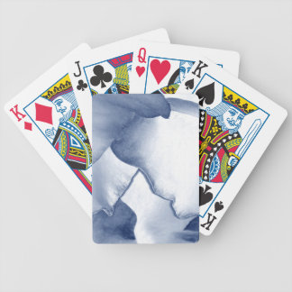 Painted Blue Petals Bicycle Playing Cards