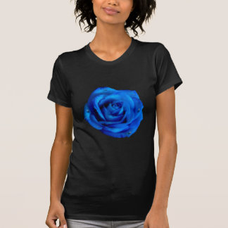 Painted Blue Rose With Rain T-shirts