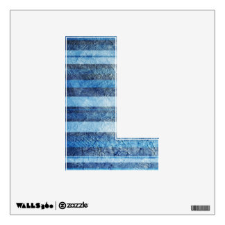 Painted Blue Stripes Design Wall Sticker