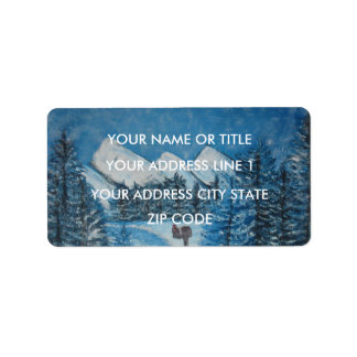Painted Blue Winter-ADDRESS MAILING LABELS