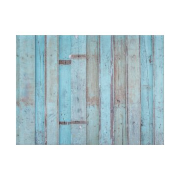 Beach Themed Painted Blue Wooden Beach Panel. Canvas Print