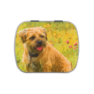 Painted Border Terrier Print, Jelly Belly™ Tin Jelly Belly Tin