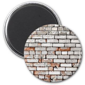 Painted Brick 2 Inch Round Magnet