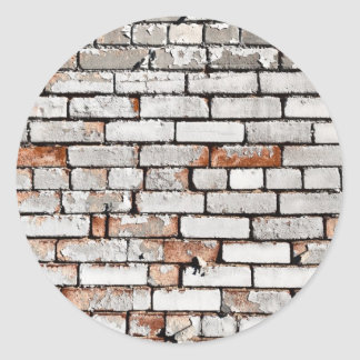 Painted Brick Classic Round Sticker