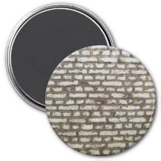 Painted brick wall 3 inch round magnet