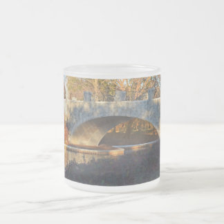 Painted Bridge At Sunset by Shirley Taylor Frosted Glass Coffee Mug