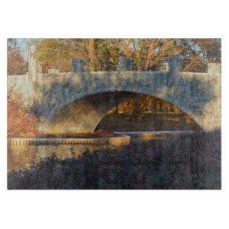 Painted Bridge at Sunset Cutting Board