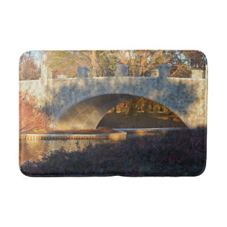 Painted Bridge At Sunset Bath Mats