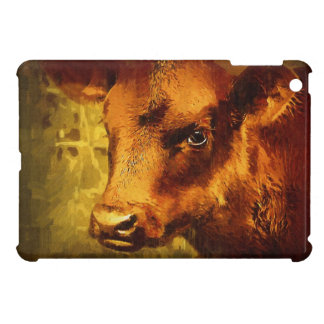 Painted Brown Calf Art Case For The iPad Mini