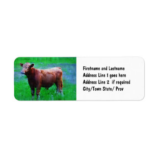 Painted Brown Cow Label