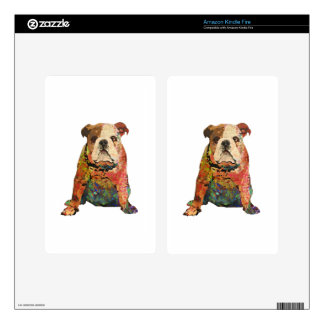 Painted Bulldog Decal For Kindle Fire