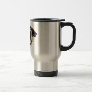 Painted Bulldog Face Coffee Mugs