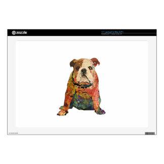 Painted Bulldog Laptop Decal