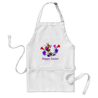 Painted Bunny Eggs Adult Apron
