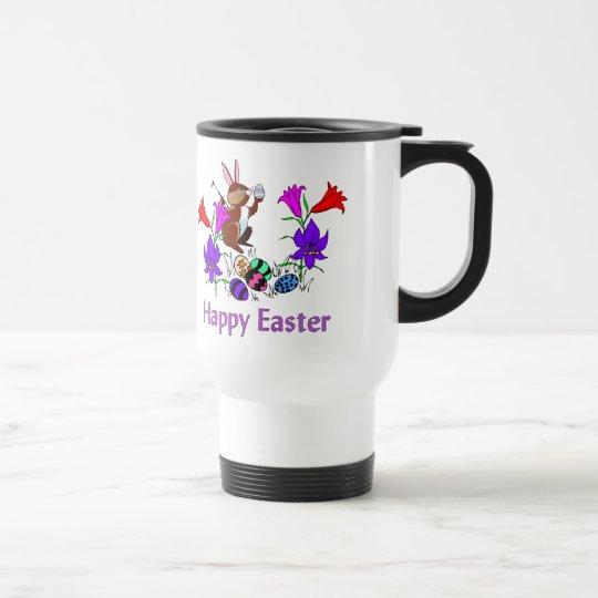 Painted Bunny Eggs Travel Mug