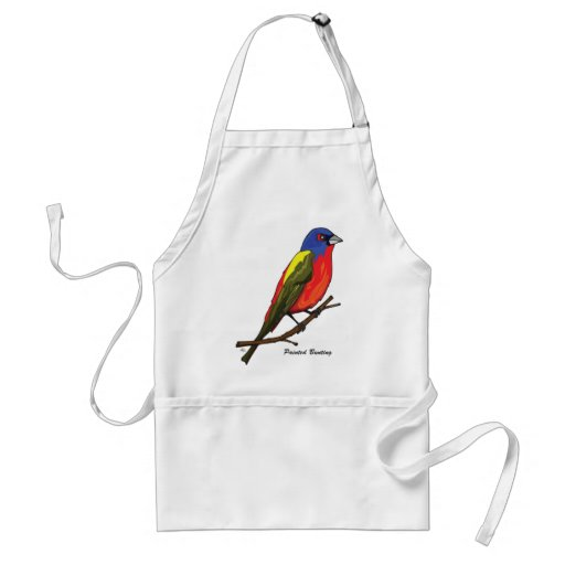 PAINTED BUNTING ADULT APRON