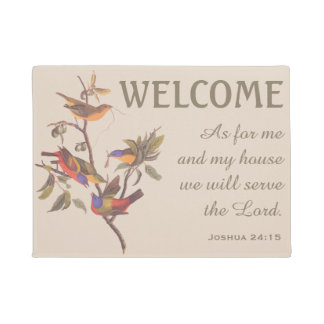 Painted Bunting Birds and Verse Doormat