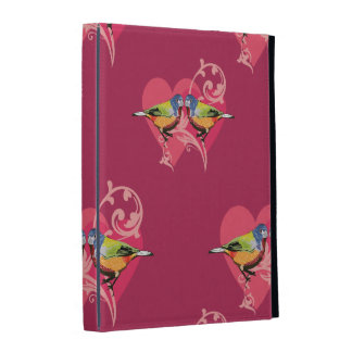 painted bunting birds pattern iPad case