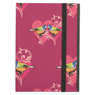 painted bunting birds pattern iPad cover