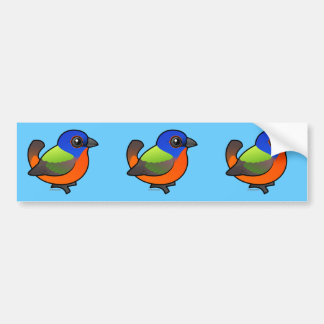 Painted Bunting Bumper Sticker