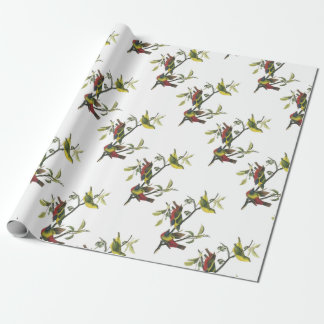 Painted Bunting by Audubon Wrapping Paper