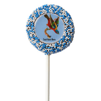Painted Bunting Chocolate Dipped Oreo Pop