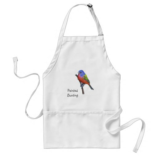 Painted Bunting Image Adult Apron