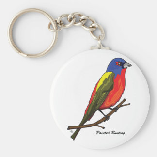 PAINTED BUNTING KEY CHAIN