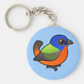 Painted Bunting Key Chains