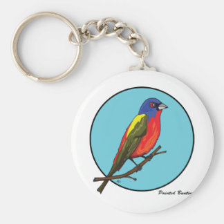 PAINTED BUNTING KEYCHAIN