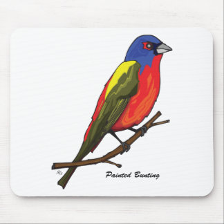 PAINTED BUNTING MOUSE PAD