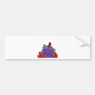 Painted Bunting on Bluebonnets Bumper Sticker
