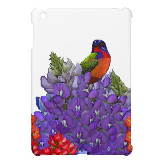 Painted Bunting on Bluebonnets iPad Mini Cases